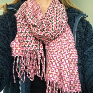 Pink Cashmere Scarf Made in Scotland